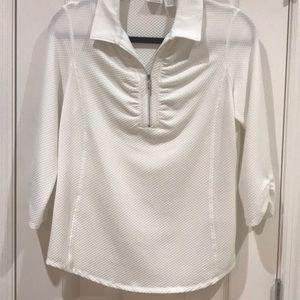 Chico's White Gold Shirt Size 4